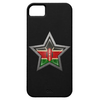 Kenyan Flag Star on Black iPhone SE/5/5s Case