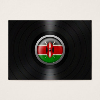 Kenyan Flag Vinyl Record Album Graphic Business Card