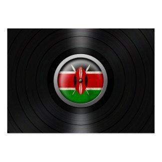 Kenyan Flag Vinyl Record Album Graphic Large Business Card