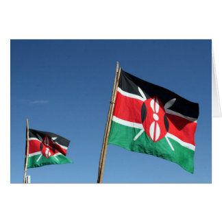 Kenyan flags card