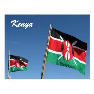 kenyan flags postcard