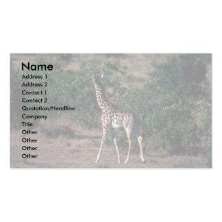 Kenyan Giraffe Business Card