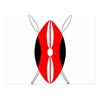 Kenyan Maasai Shield Postcard