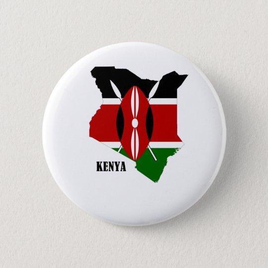 Kenyan Map and Flag Pinback Button
