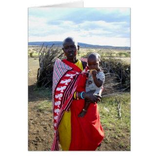 KENYAN MOTHER AND BABY IN KENYA CARD