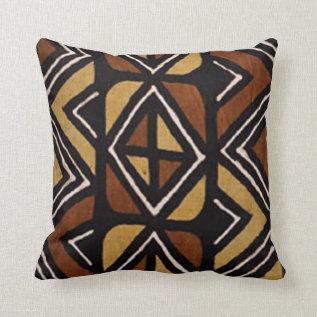 Kenyan Mud Cloth Pattern #2 Pillow at Zazzle