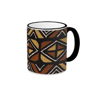 Kenyan Mud Cloth Pattern #2 Ringer Coffee Mug