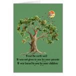 Kenyan Nature Proverb Greeting Card
