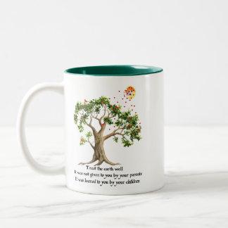Kenyan Nature Proverb Two-Tone Coffee Mug