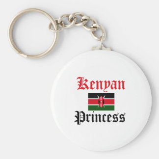 Kenyan Princess Basic Round Button Keychain