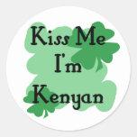 Kenyan Round Stickers
