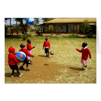 KENYAN SCHOOL CHILDREN IN KENYA CARD