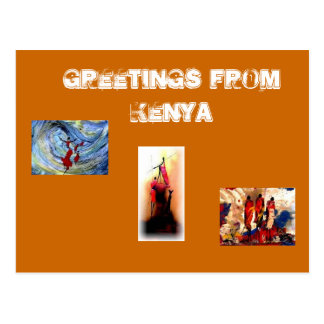 Kenyan tribes men Card Postcard