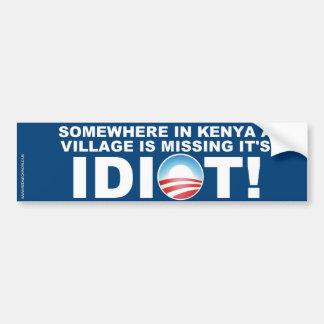 Kenyan Village missing it's Idiot Bumper Stickers