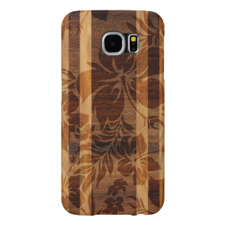 Keokea Beach Faux Wood Surfboard Samsung Galaxy S6 Case