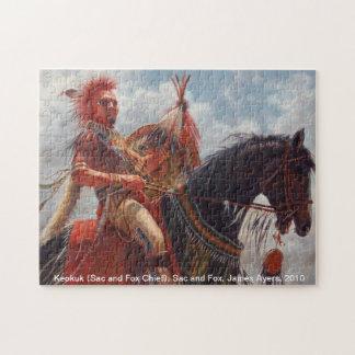 Keokuk, saco y jefe del nativo americano del Fox Rompecabezas