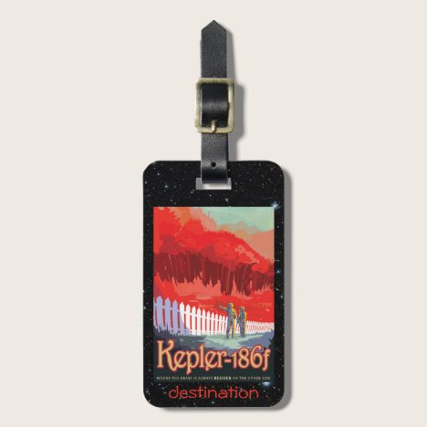 Kepler 186f Where the Grass is Alway Red Luggage Tag