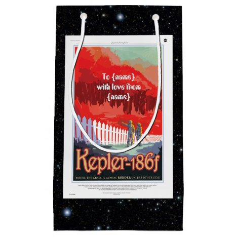 Kepler 186f Where the Grass is Alway Red vacation Small Gift Bag