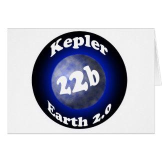 Kepler 22b greeting card