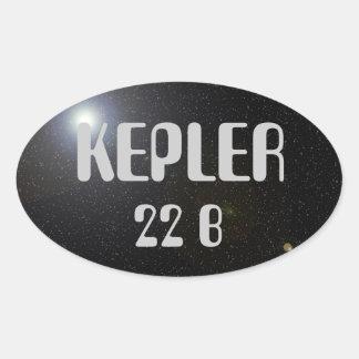 KEPLER 22B OVAL STICKER ALIEN SPACE FUNNY