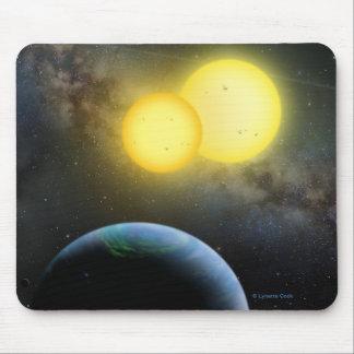 Kepler-35 Alfombrillas De Raton