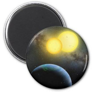 Kepler-35 Imán Redondo 5 Cm