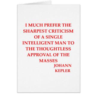 KEPLER GREETING CARD