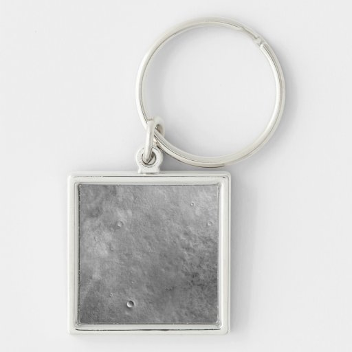 Kepler crater on the surface of Mars Silver-Colored Square Keychain