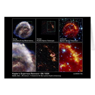 Kepler's Supernova Remnant - SN 1604 2004 – NASA Card