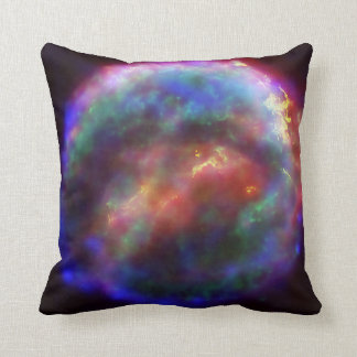 Kepler's Supernova Remnant In Visible, X-Ray Throw Pillow