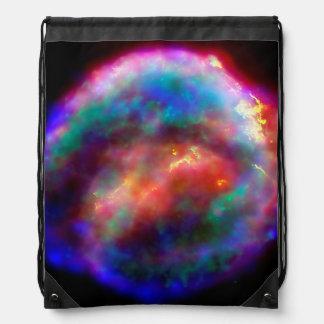 Kepler's Supernova Remnant NASA Hubble Space Photo Drawstring Backpack