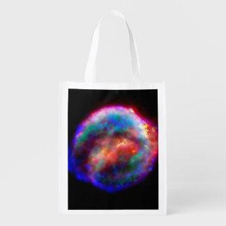 Kepler's Supernova Remnant NASA Hubble Space Photo Reusable Grocery Bag