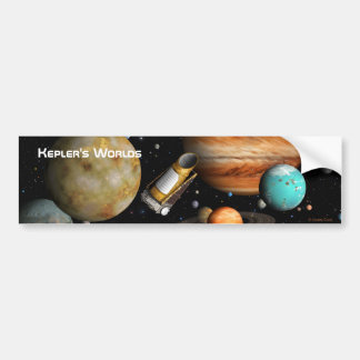 Kepler's Worlds Car Bumper Sticker