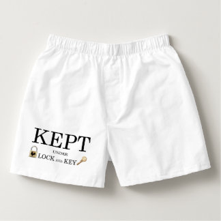 Kept Locked in Chastity Boxers