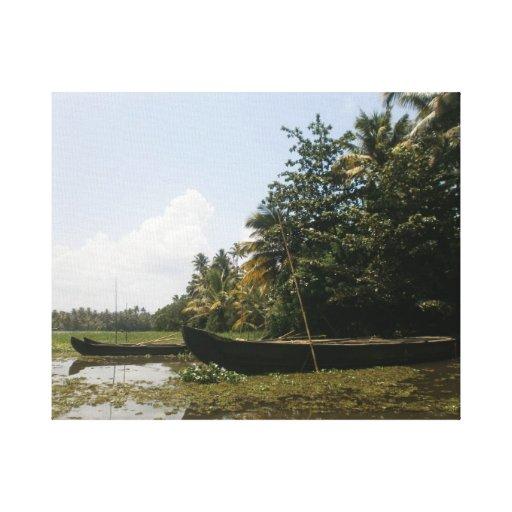 Kerala Backwaters in south India Canvas Print