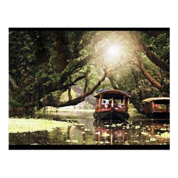 SapioDesigns Kerala boat house postcard