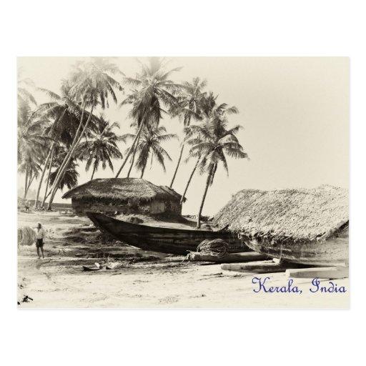 Kerala fishing village postcards