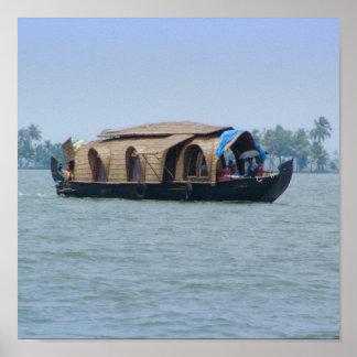 Kerala Houseboat Poster