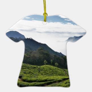 Kerala un lado y Tamil Nadu en el fondo, Adorno De Cerámica En Forma De Camiseta