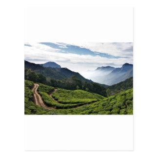 Kerala un lado y Tamil Nadu en el fondo, Postales