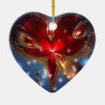 Keramikherz tolles Design Weihnachtsornament