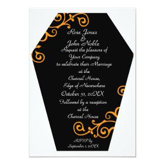Keranda Ebony (Orange) Wedding Invitation