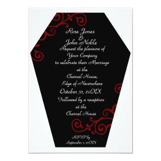 Keranda Ebony (Red) Wedding Invitation