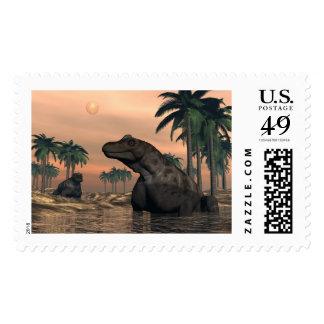 Keratocephalus dinosaurs - 3D render Postage
