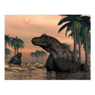 Keratocephalus dinosaurs - 3D render Postcard