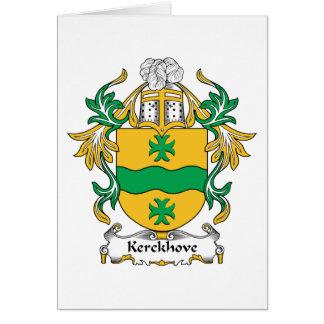 Kerckhove Family Crest Card