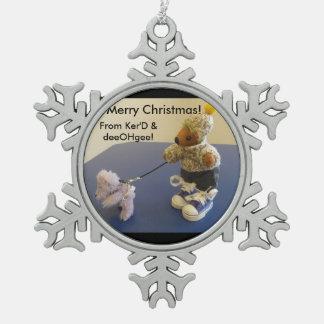 Ker'Dunkedunk Bear and deeOHgee Snowflake Ornament