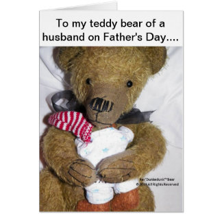 Ker'Dunkedunk Bear Father's Day (for husband) Card