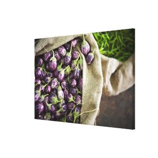 Kerelan Eggplant Gallery Wrap Canvas