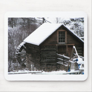 Keremeos Grist Mill in Winter Mouse Pad